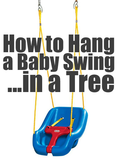 Little Tikes Outdoor Baby Swing How To Hang In A Tree