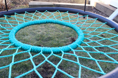 Close-Up View of Webbing of Tarzan Tire Swing