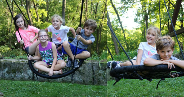 Web Swing Outdoor Tree Swing with 5 Kids
